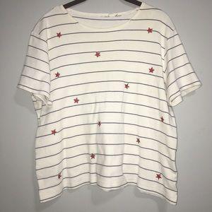 Patriotic Red White & Blue Stars & Stripes T-shirt